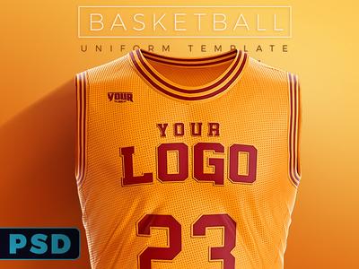 Download Basketball Uniform PSD Template by Ali Rahmoun - Dribbble