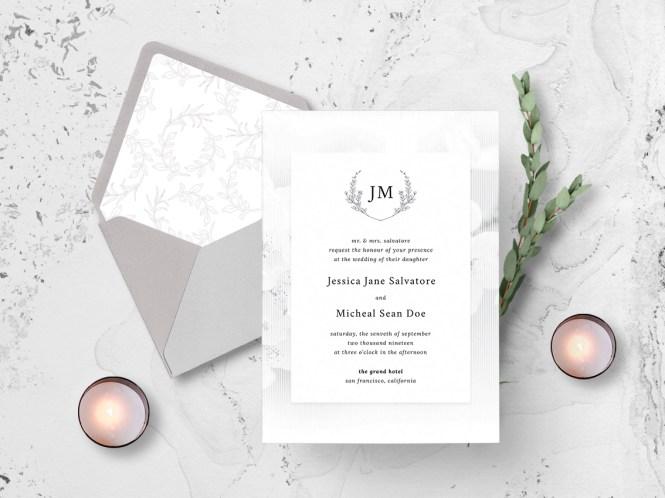 White Elegance Wedding Invitation By Nicolas Fernandez On