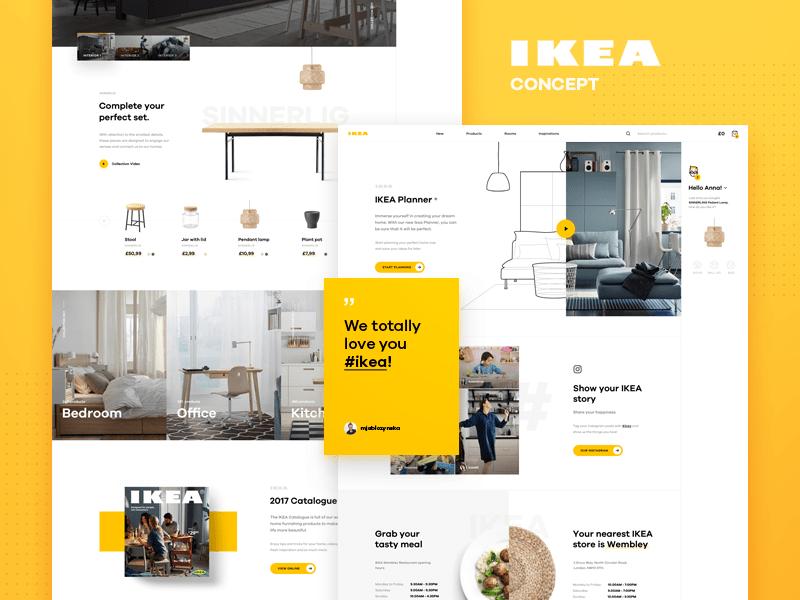 Ikea Online Concept Homepage By Luke Pachytel For Netguru