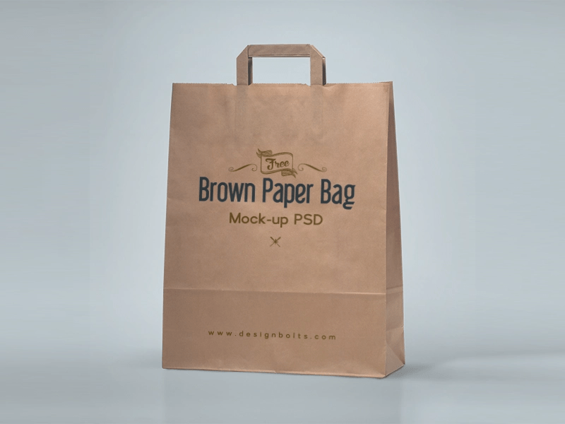 Download Free Brown Paper Shopping Bag Packaging Mock-Up Psd by Zee ...