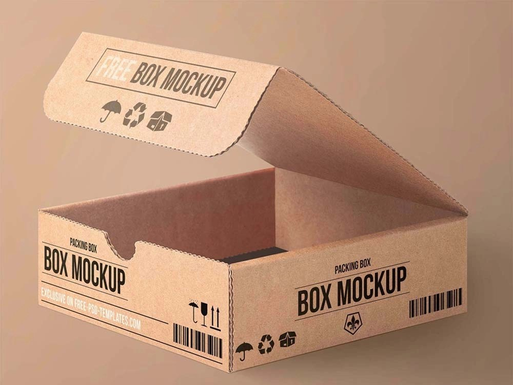 Download Free Carton Packaging Box Mockup by Frebie Assets on Dribbble