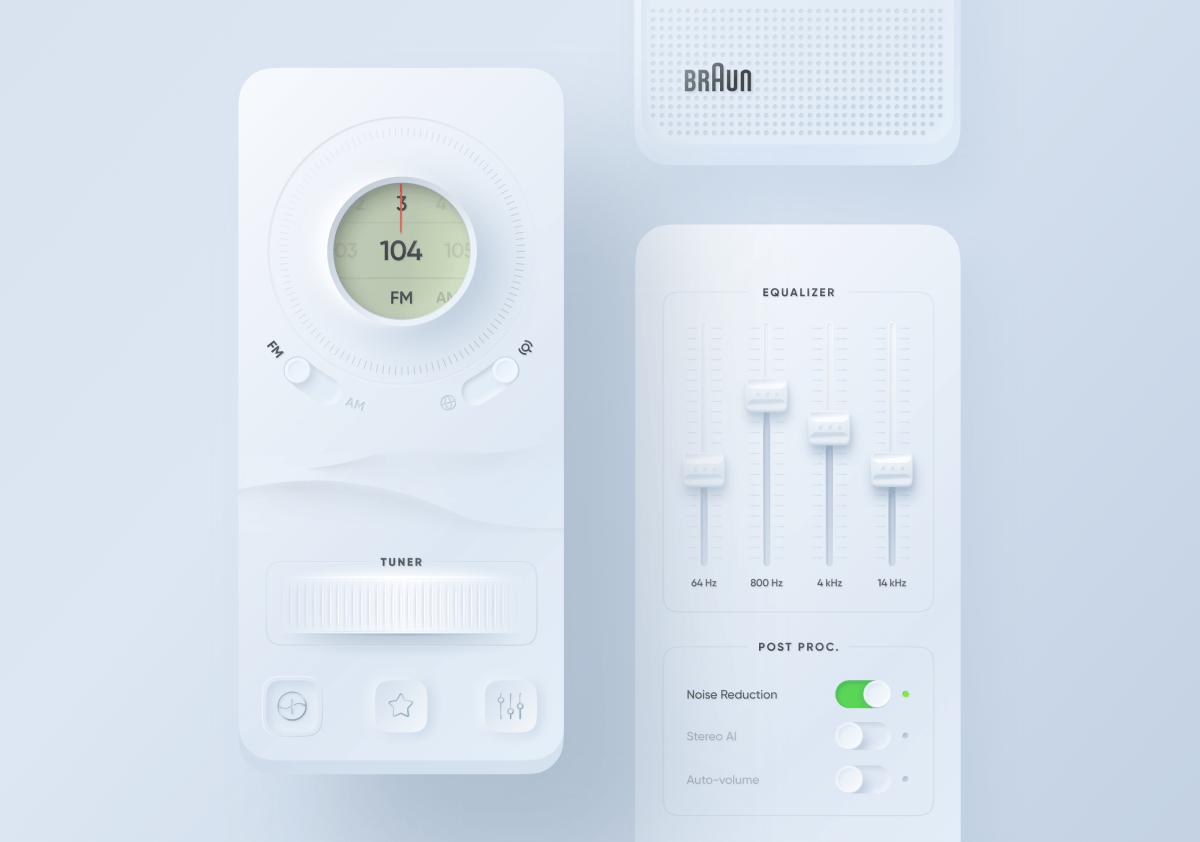 Neumorphism Music App UI Design