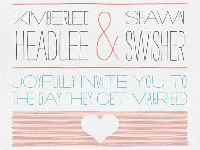 Wedding Invitation By Shawn Swisher