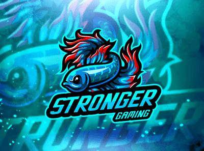 Free Download  Stronger eSports Gaming Mascot logo
