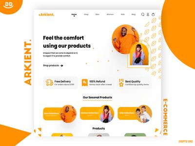 Arkient Ecommerce Landing Page Design