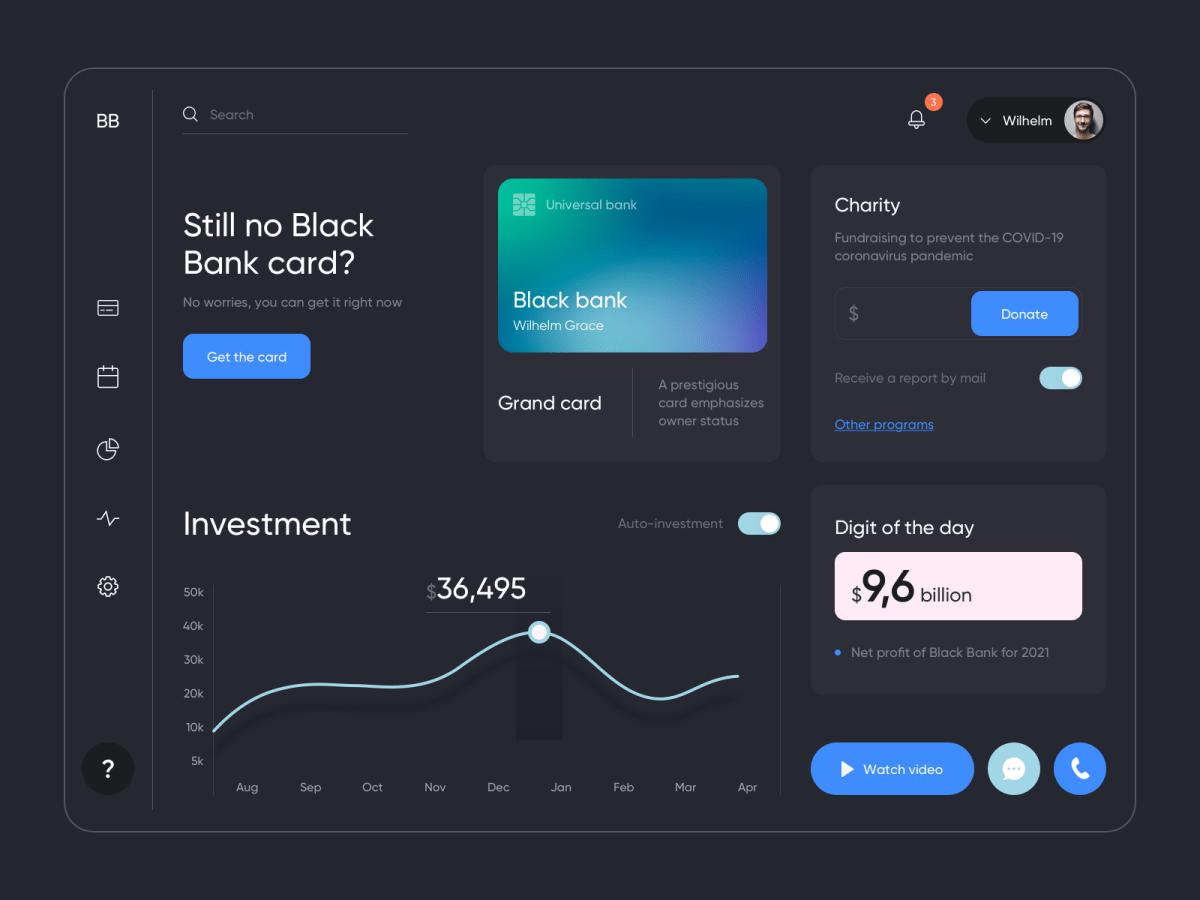 Blue gradient dashboard