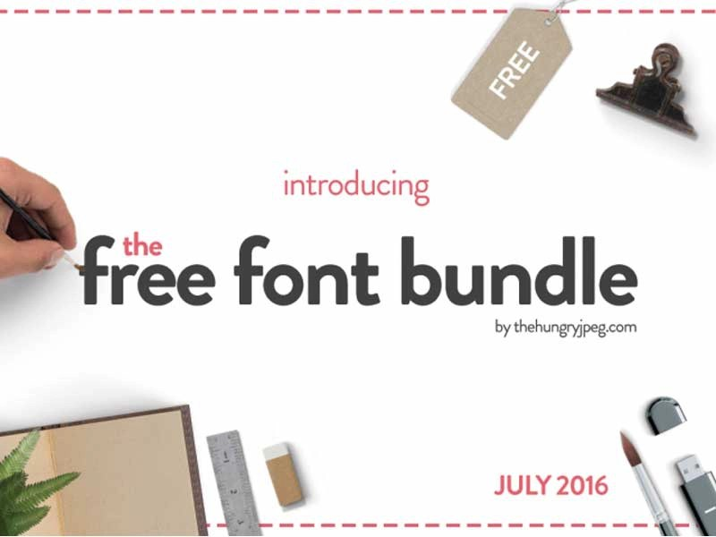 Download The Free Font Bundle by TheHungryJPEG by TheHungryJPEG.com ...