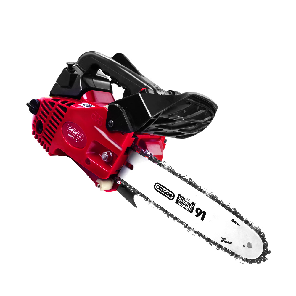 "Giantz Chainsaw Chainsaws 10"" Oregon Petrol Cordless 25cc Top Handle Chains Saw"