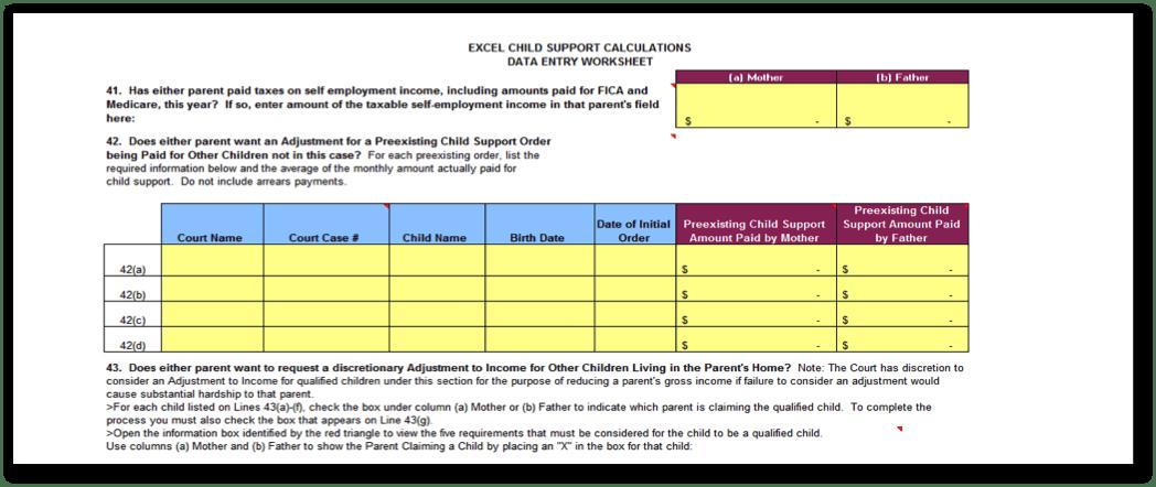 Complete Child Support Worksheet