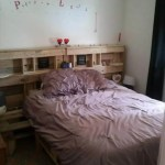 Pallet Bed With Headboard And Storage Easy Pallet Ideas