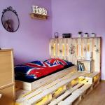 Toddler Pallet Bed With Led Lights Easy Pallet Ideas