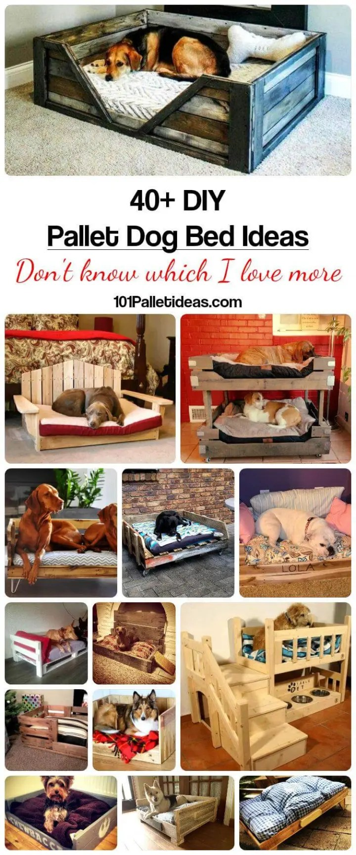 40 Diy Pallet Dog Bed Ideas Don T Know Which I Love More Easy Pallet Ideas