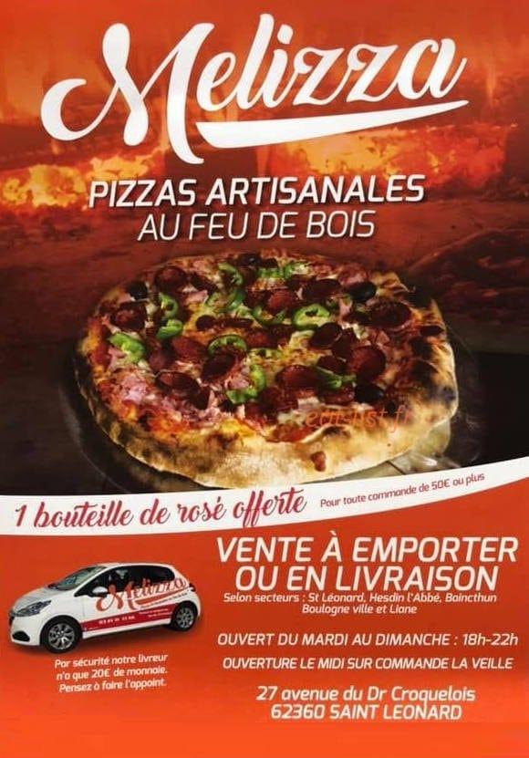 melizza a saint leonard carte menu et