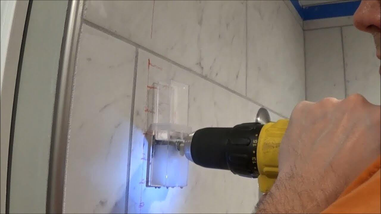 drill through a porcelain tile