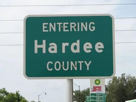 Entering Hardee County
