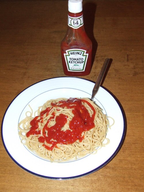 15 - And finally, there are people who put Ketchup on their pasta.