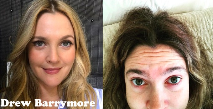 15 celebs before and after a face full of makeup - wow