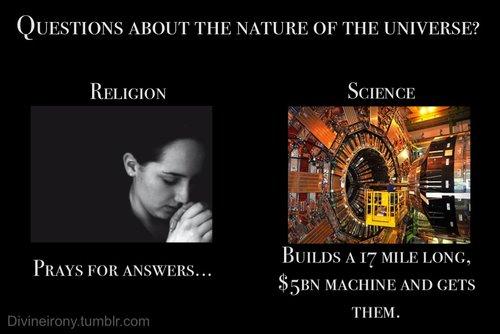 Image result for religion vs science meme