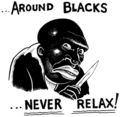 Image result for black racist cartoon