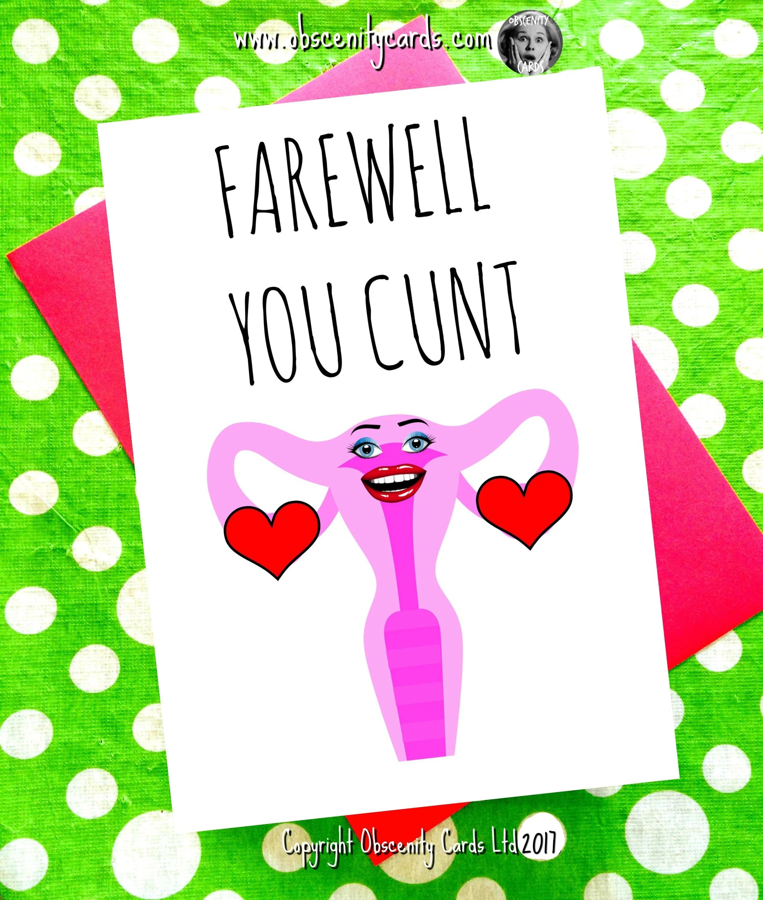 HYSTERECTOMY CARD FAREWELL YOU CUNT