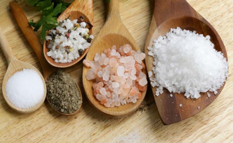 Diversos tipos de sal