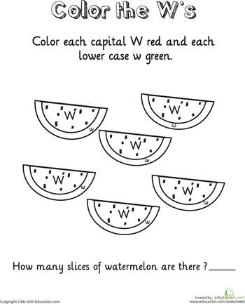 Color And Count The Alphabet Worksheets
