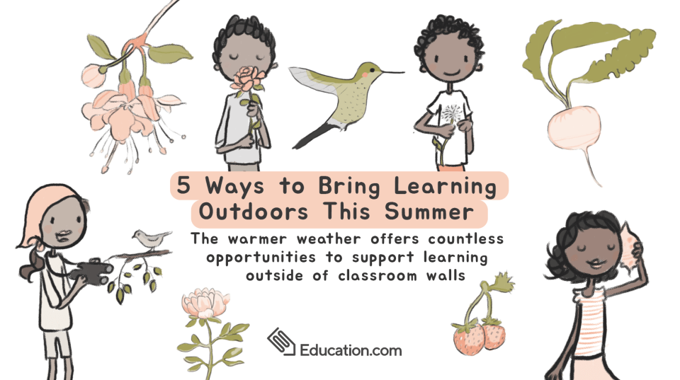 Bring Learning Outdoors feature