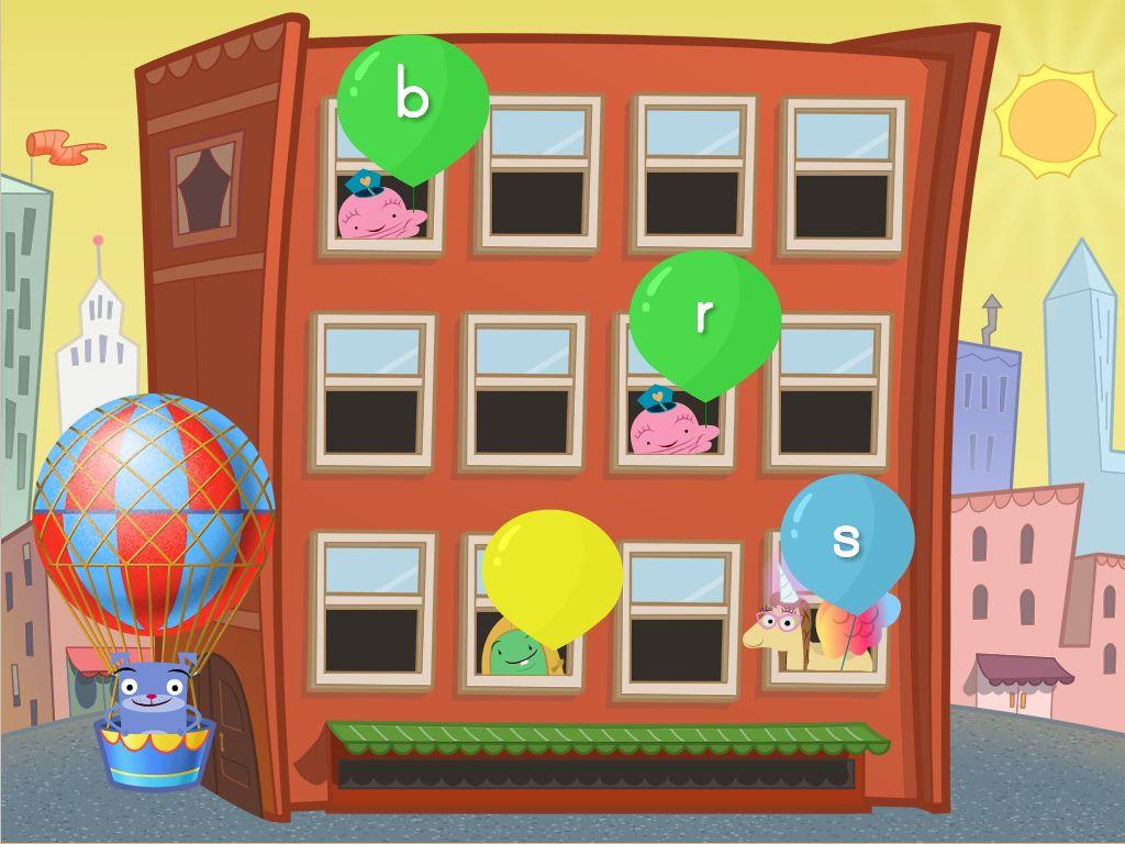 Beginning Sounds Balloon Pop Game