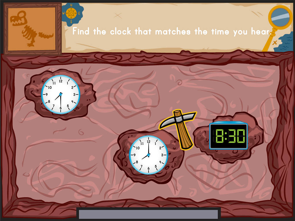 Dino Bones Telling Time To The Hour