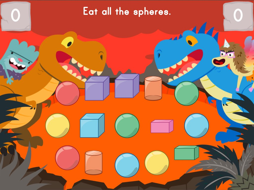 Dino Crunch 3d Shapes