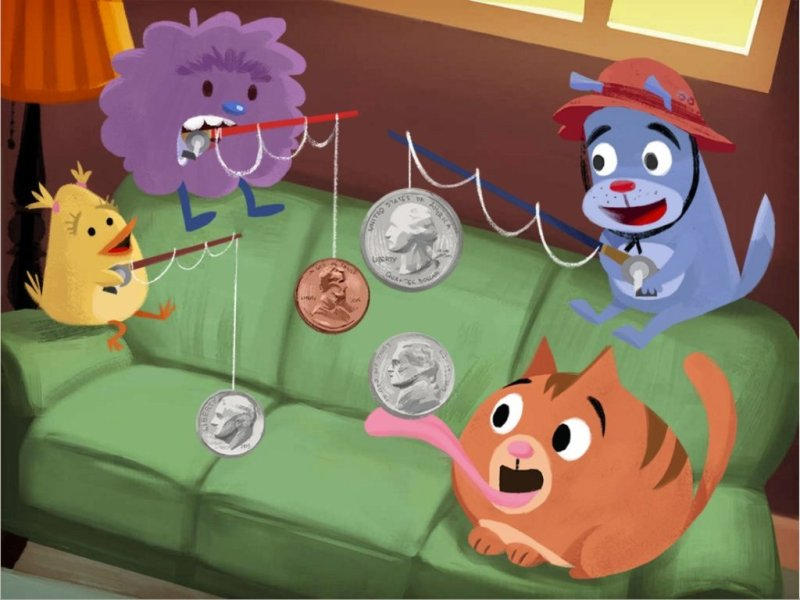 Fishing for Coins Identification Game   Game   Education com