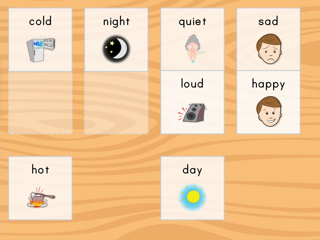 Free And Easy To Download Preschool Opposites Cards In