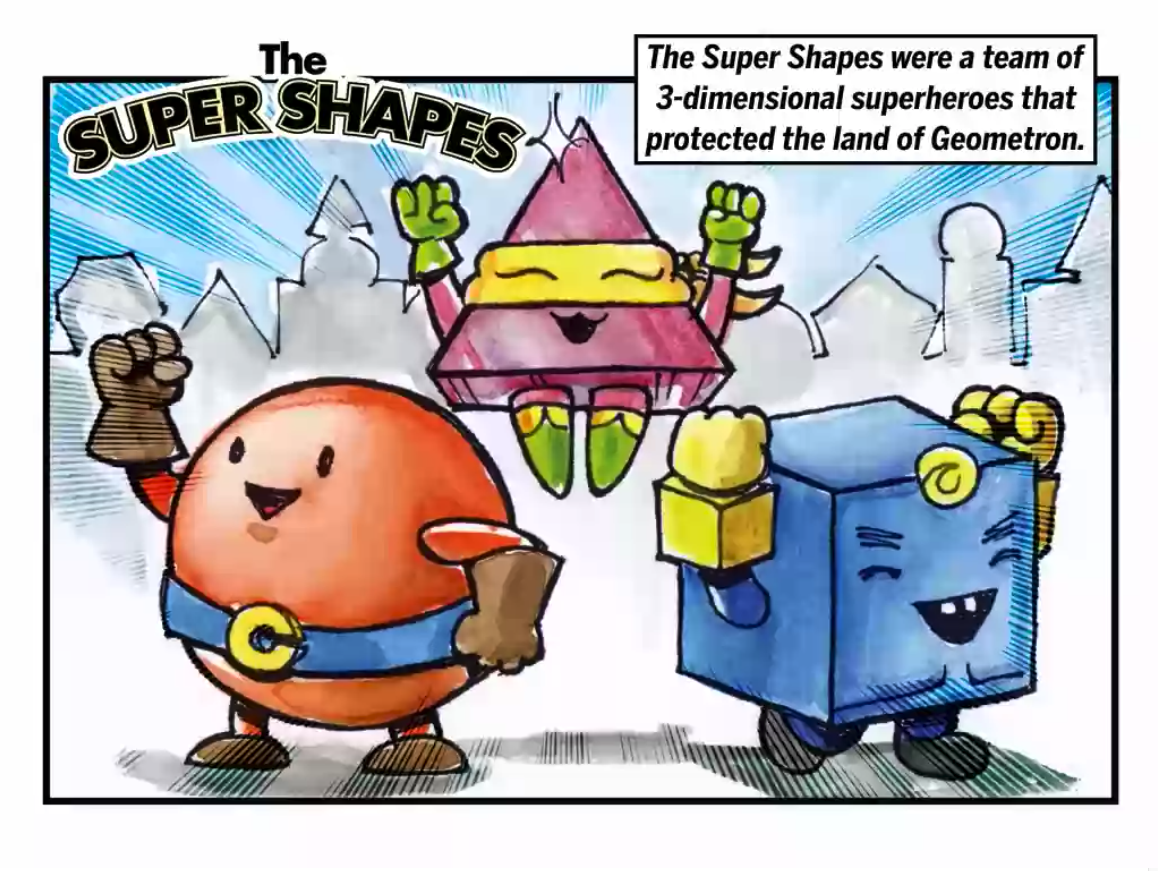 Space Color By Shapes Worksheets