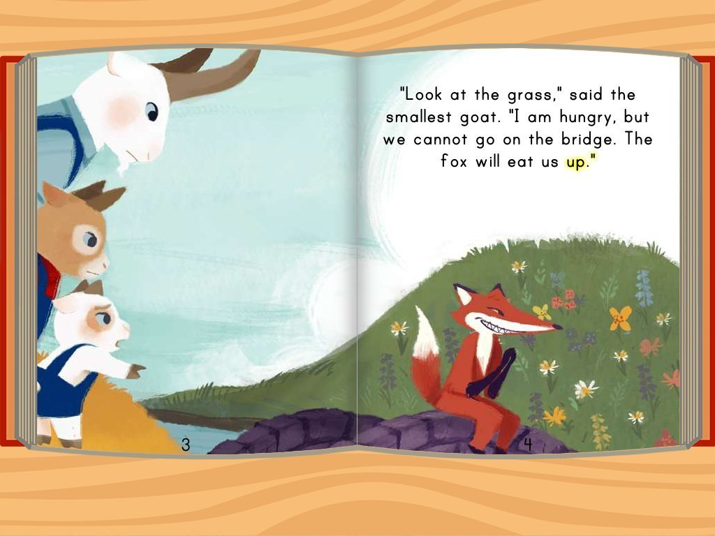 Three Billy Goats Gruff Story