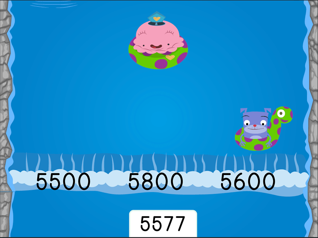 Water Rafting Rounding Multi Digit Numbers To The Nearest