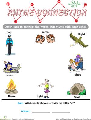 Rhymes For Preschoolers