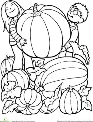 Giant Pumpkin Worksheet Education Com