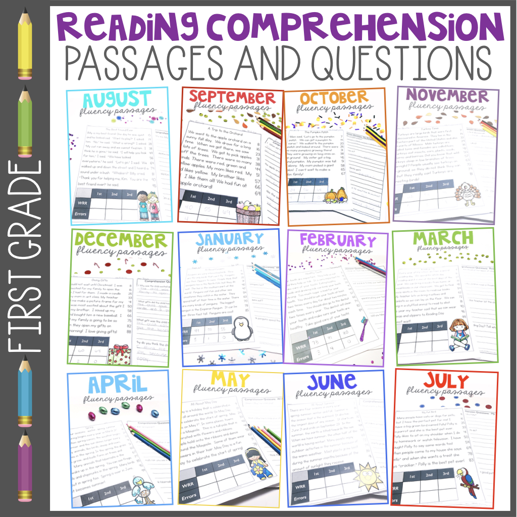 1st Grade Reading Comprehension Passages And Questions Fluency Passages