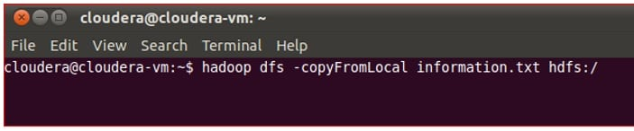 Command to read the content of Pig file into HDFS
