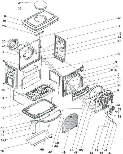 Jotul Wood Stove Parts Diagram