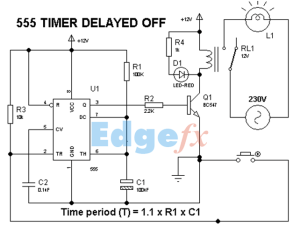 555 Timer Delay Off Circuit Diagram | EEWeb Community