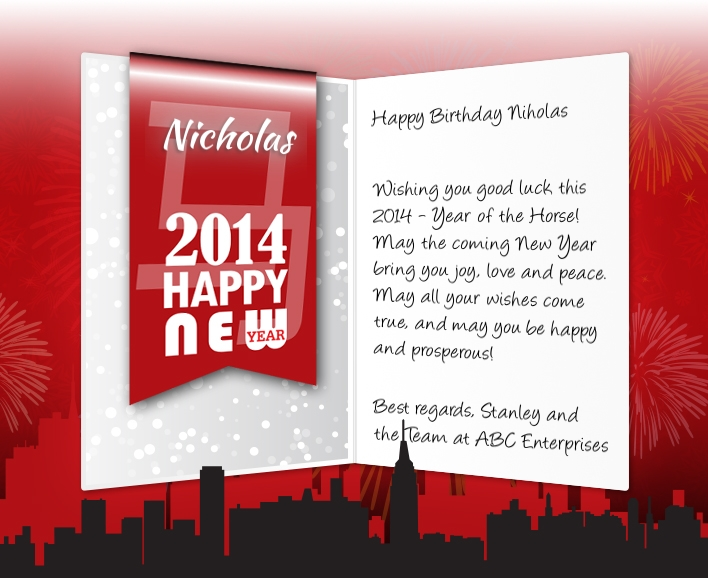 Professional Chinese New Year ECards For Business