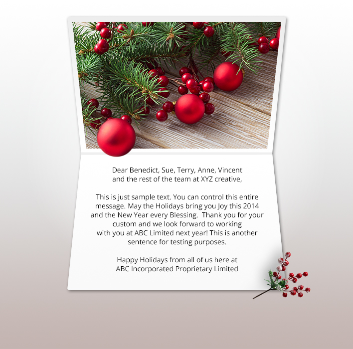 Christmas ECards For Business Electronic Xmas Holiday Cards