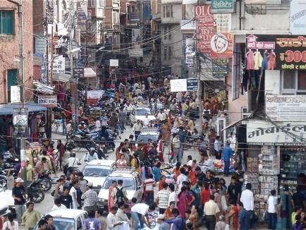 Chaotic Kathmandu,Pic from Intimate Yet Chaotic Nepal by Keesler Welch, http://rememberkathmandu.blogspot.com