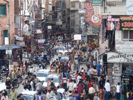 Chaotic Kathmandu,Pic from Intimate Yet Chaotic Nepal by Keesler Welch, http://rememberkathmandu.blogspot.com