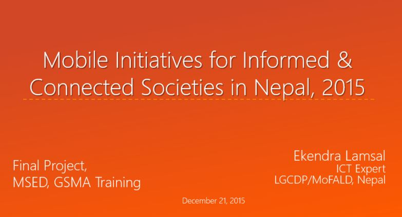 Mobile Initiatives Nepal 2015