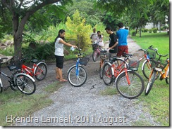 New Students in AIT with their new Bicycles