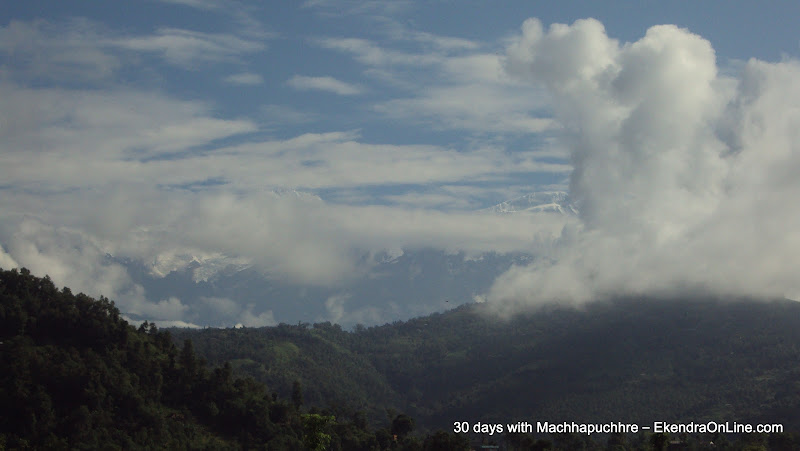 Glory with Machhapuchhre Himal in the Fishtail Range