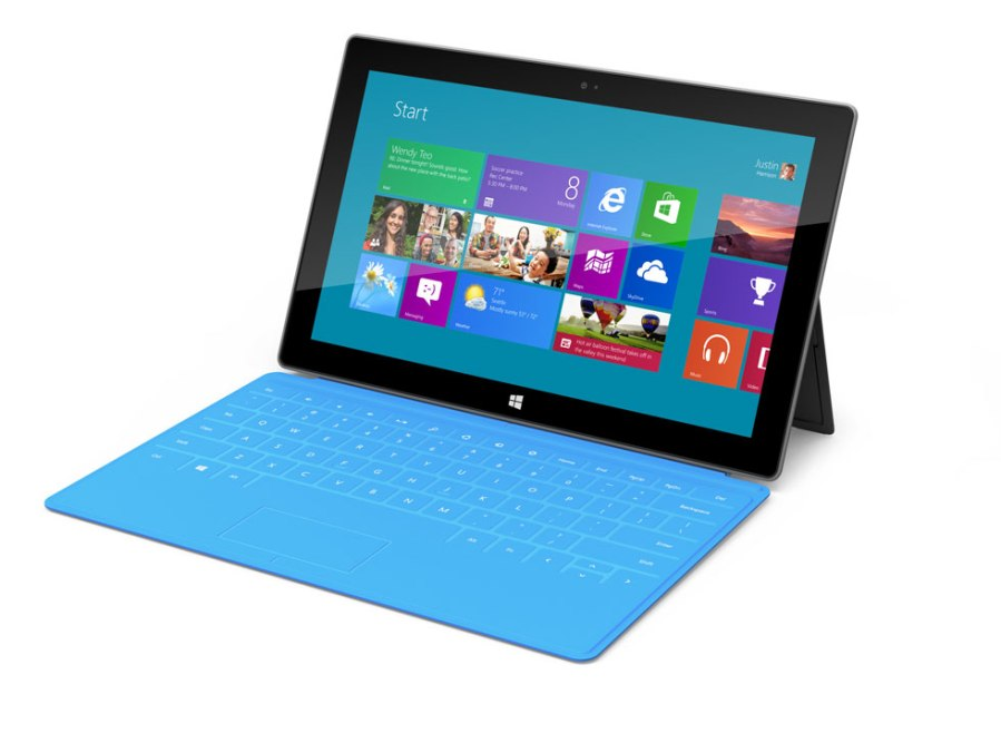 Image of New Microsoft Surface Tablet RT and Windows 8 Pro