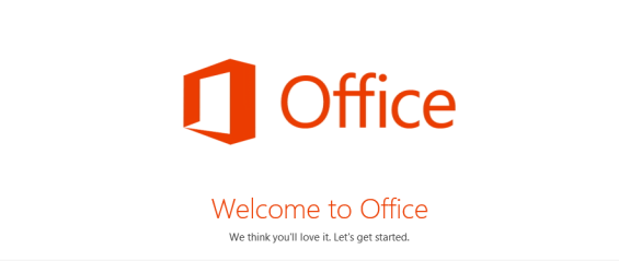 Office 2013 Welcome Screen - Microsoft Offic 365 Home Premium